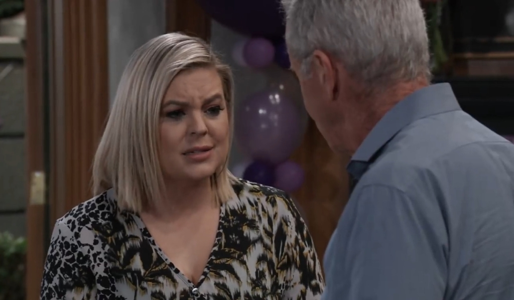 Maxie tells Robert Peter has suffered enough at party General Hospital