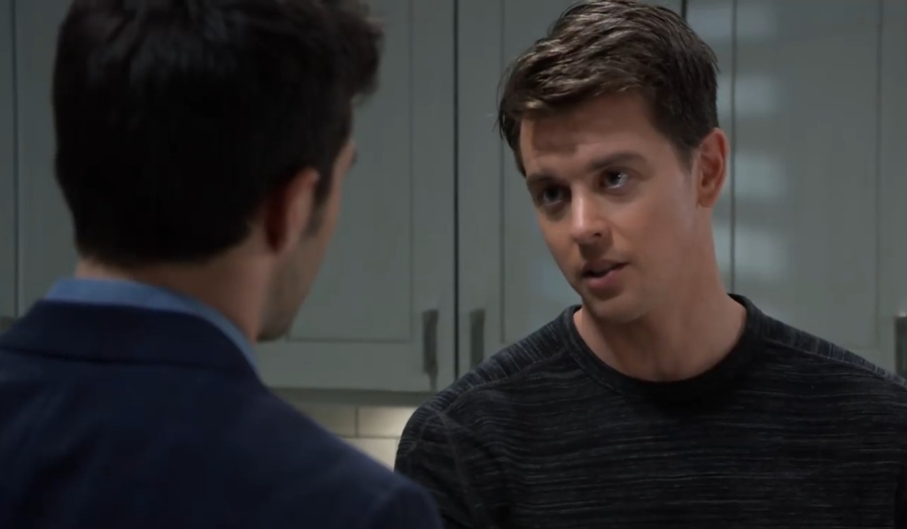 Michael and Chase discuss the custody hearing General Hospital