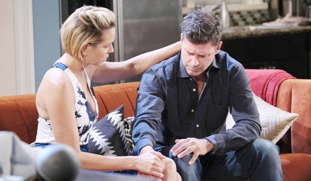 Nicole comforts Eric Days of our Lives