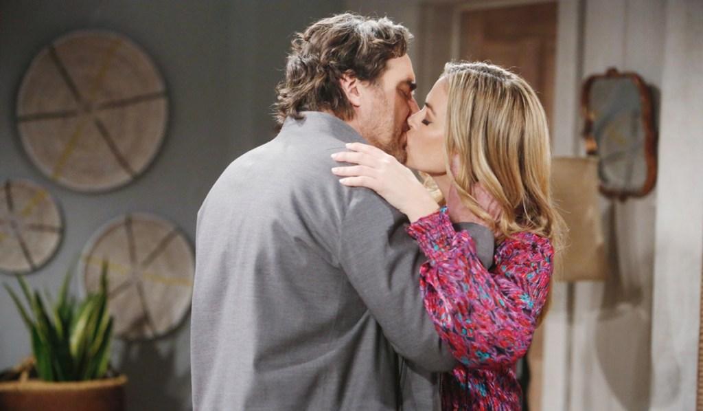 Ridge, Shauna kiss in Vegas Bold and Beautiful