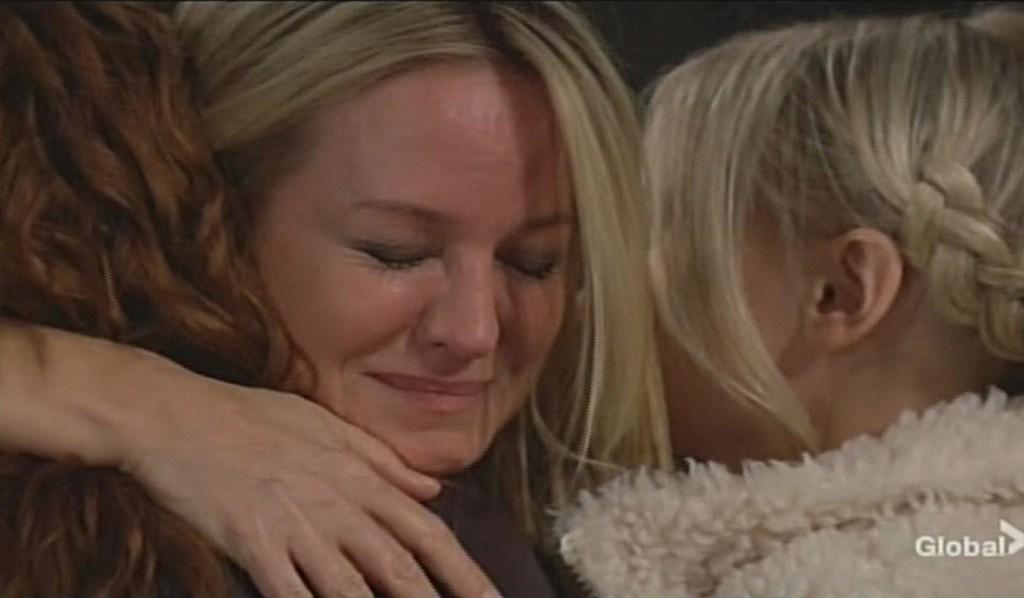 Sharon cries embracing Mariah, Faith Young and Restless