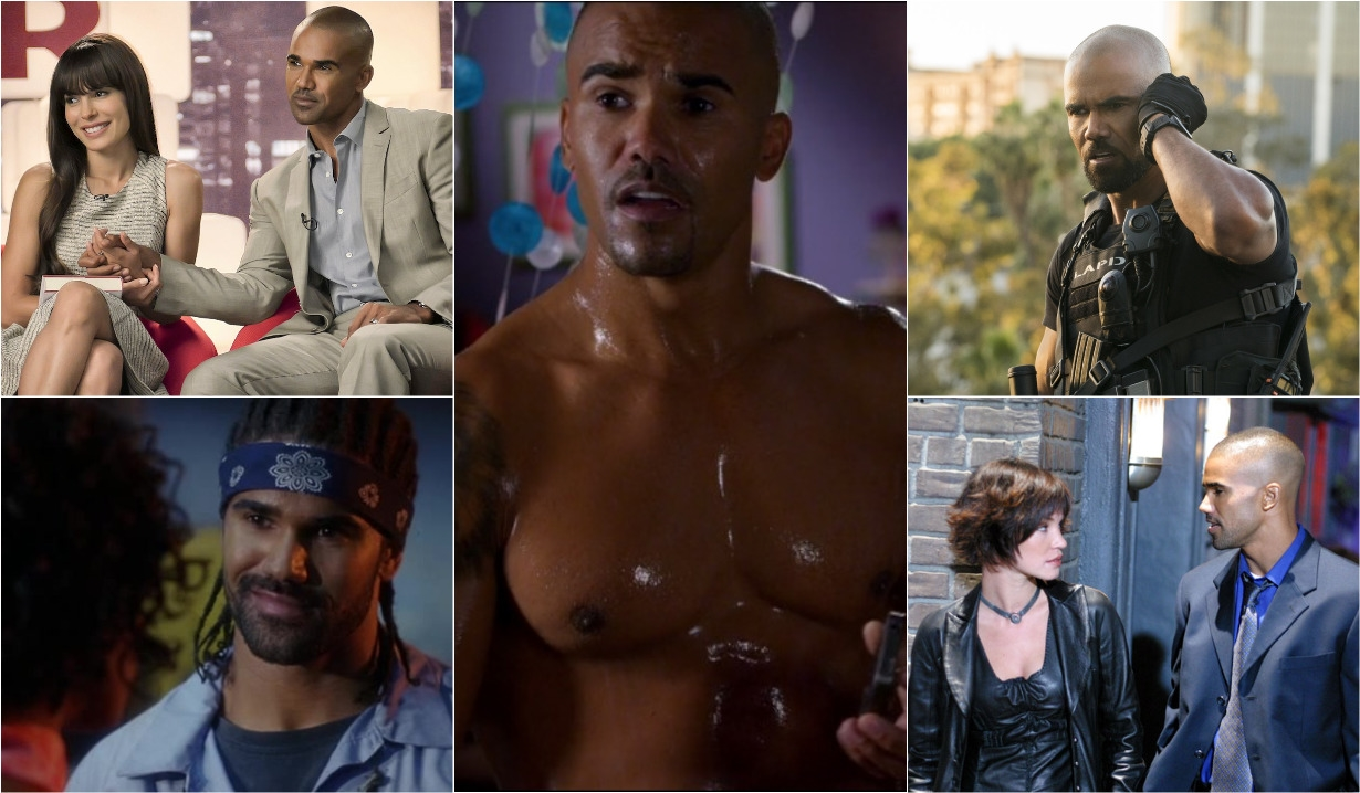 Shemar Moore collage, Big Bounce, SWAT, Birds of Prey, Criminal Minds, Diary of a Mad Black Woman, Young and Restless