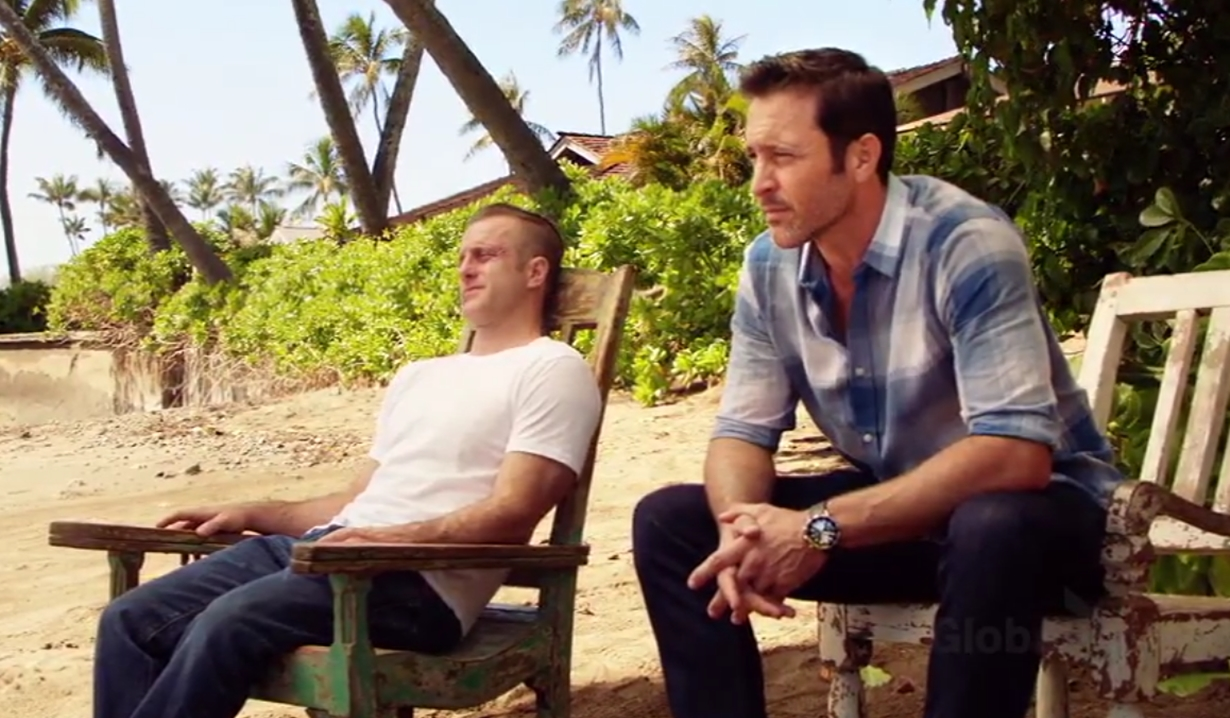 Steve, Danny beach goodbye Hawaii Five-0