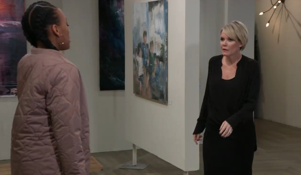 Traina asks Ava for help at gallery General Hospital