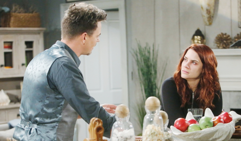 Wyatt, Sally discuss moving out Bold and Beautiful