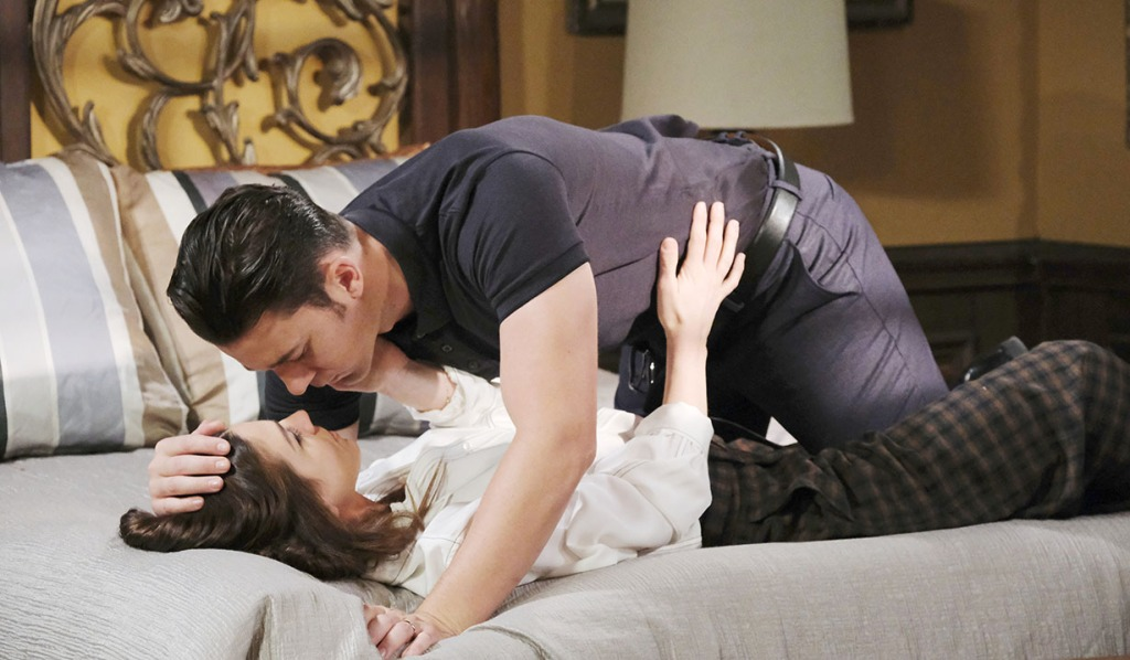 chad and abby kiss in bed days of our lives
