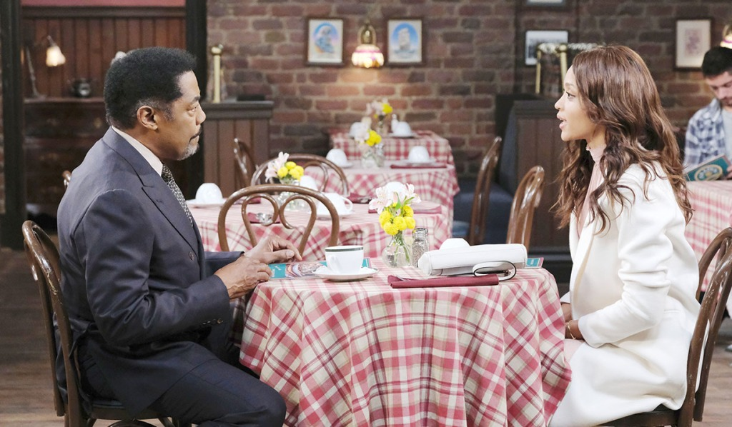Lani and Abe at the pub dining days of our lives