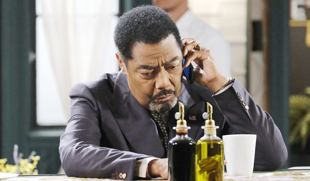 abe on a call with nicole days of our lives