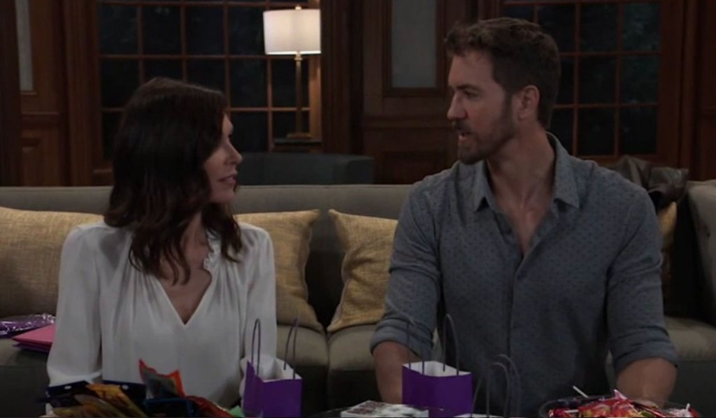 Peter and Anna plan Violet's party on General Hospital