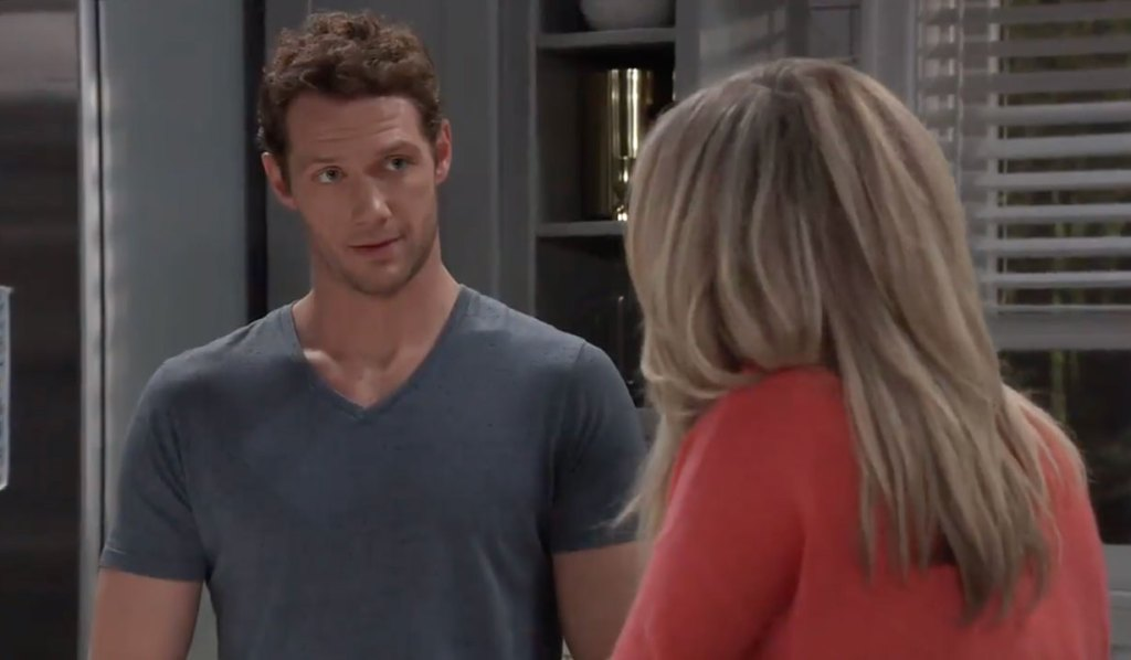 Carly questions Brando about what's next on General Hospital