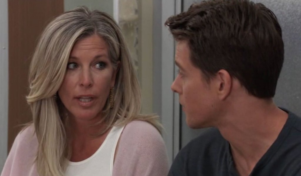Laura and Michael discuss marrying Willow on General Hospital