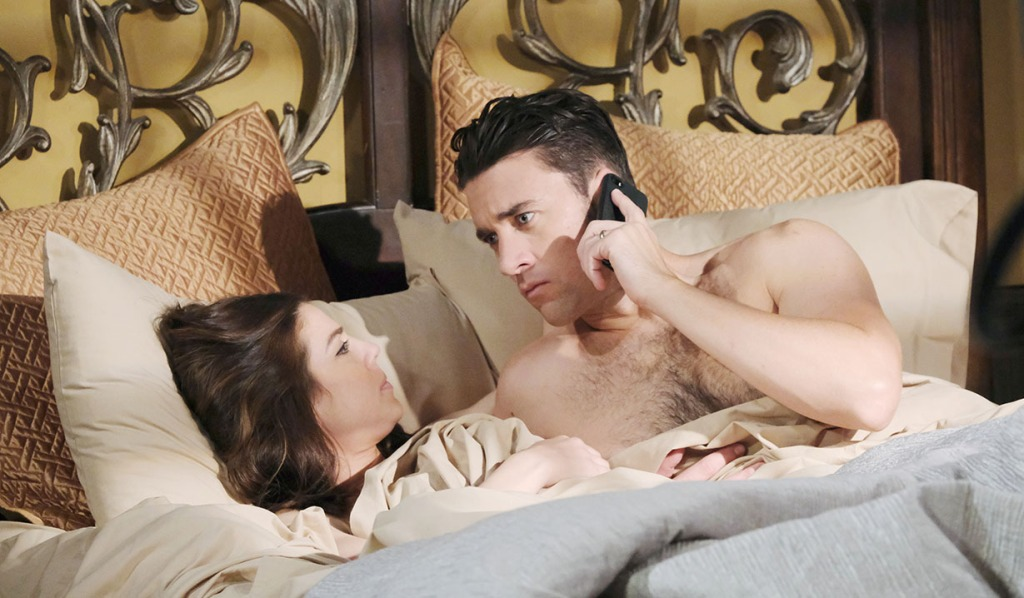abby chad in bed phone call days of our lives