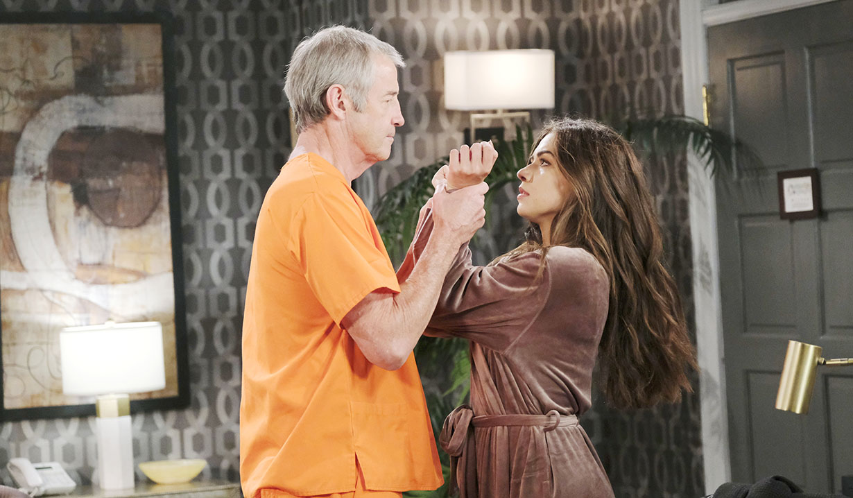 clyde breaks out prison manhandles ciara april fools days of our lives