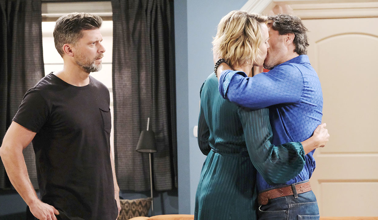 dan kisses eric's girlfriend april fools days of our lives