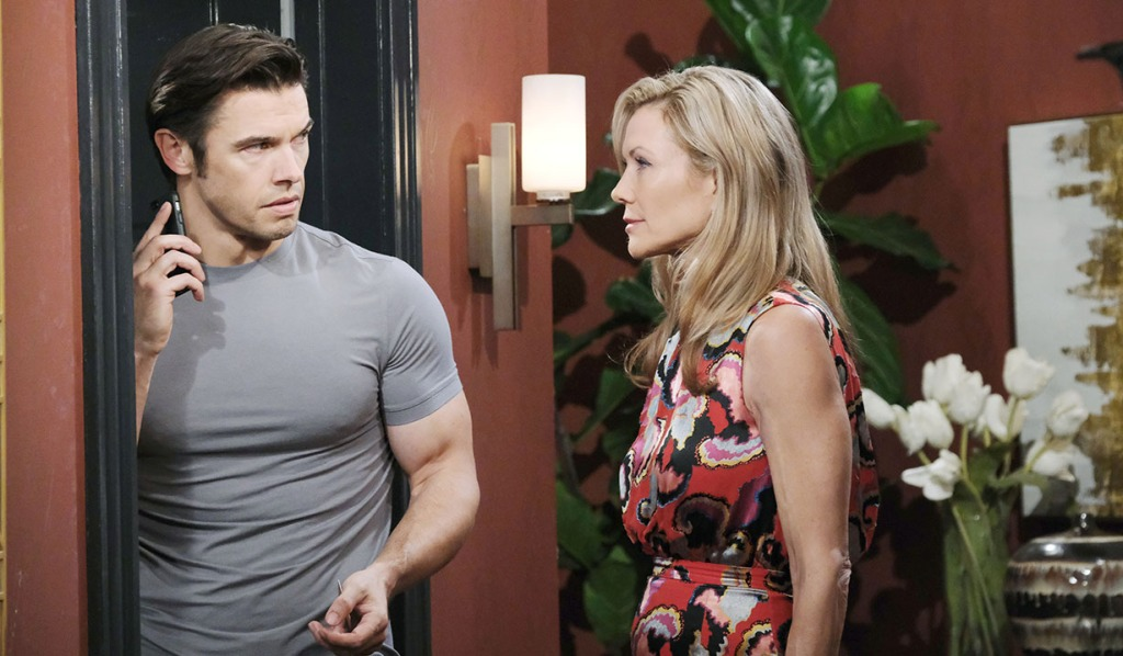 kristen catches xander calling sarah days of our lives