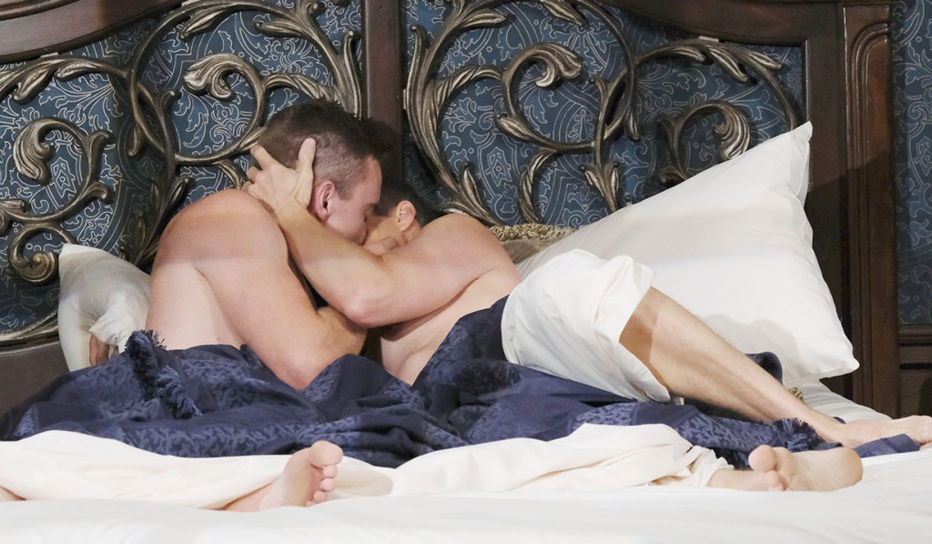 will and leo kissing in bed april fools days of our lives