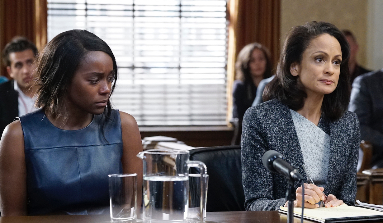 Michaela and her lawyer on HTGAWM