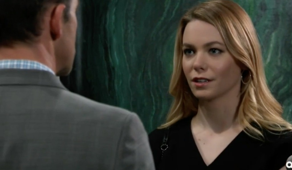 Nelle confronts Valentin on General Hospital