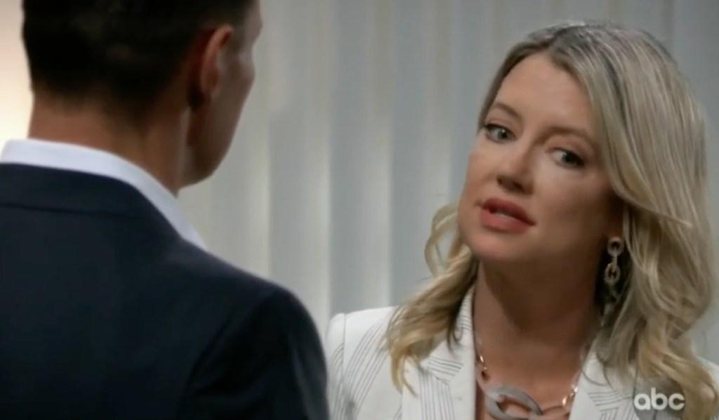 Nina and Jax discuss Sasha on General Hospital
