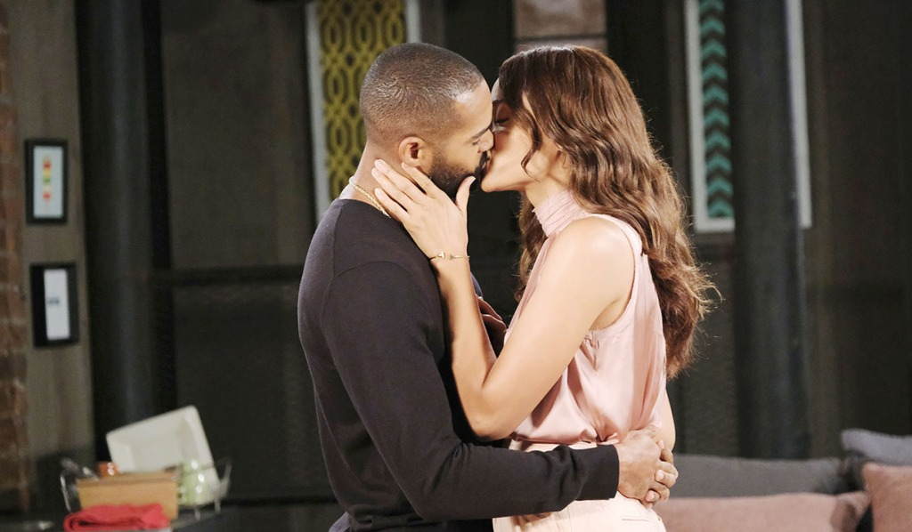 eli and lani kissing at home days of our lives