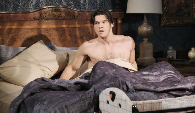 xander wakes up suddenly in bed days of our lives