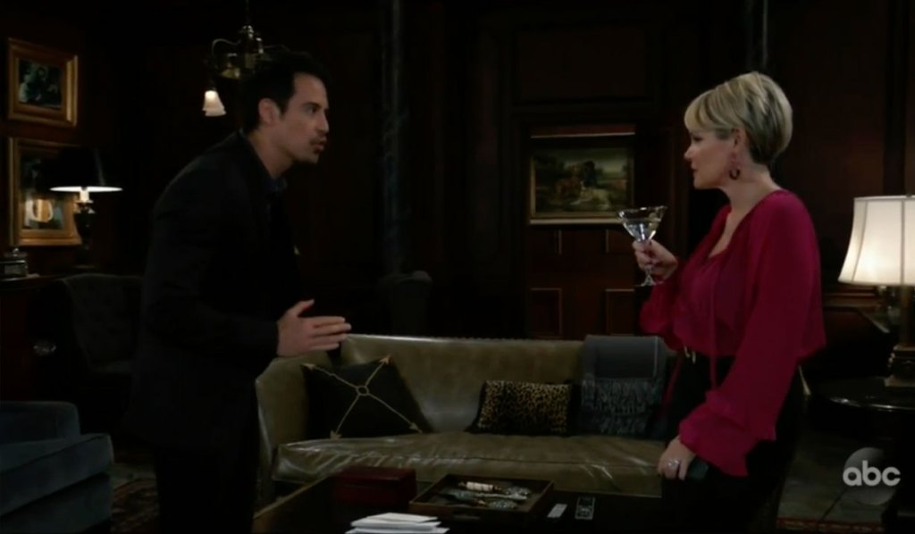 Nikolas and Ava argue about her changing Wyndemere on General Hospital