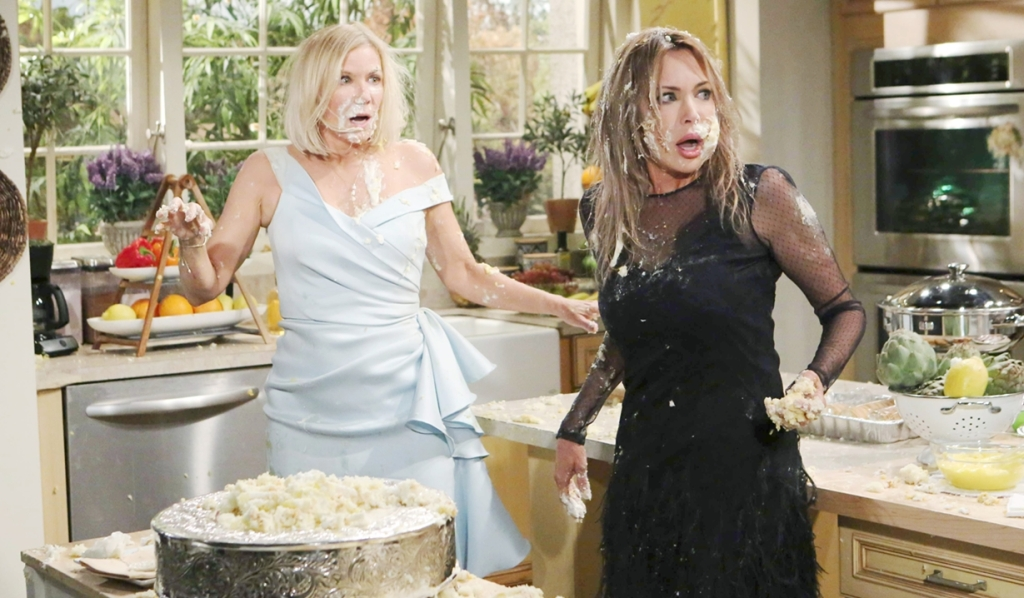 Brooke, Taylor cake fight B&B