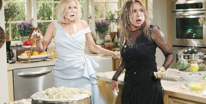 Brooke, Taylor cake fight B&B