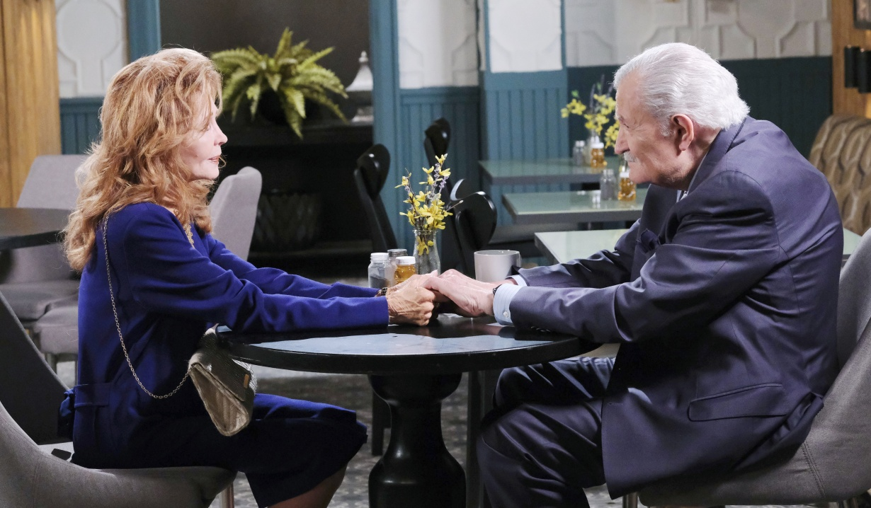 Days of Our Lives Maggie Victor hold hands