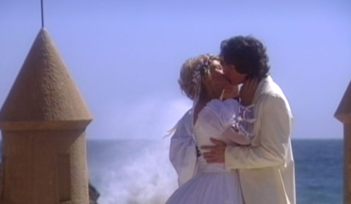 ridge and brooke's first kiss as husband and wife 1994 wedding bold and beautiful