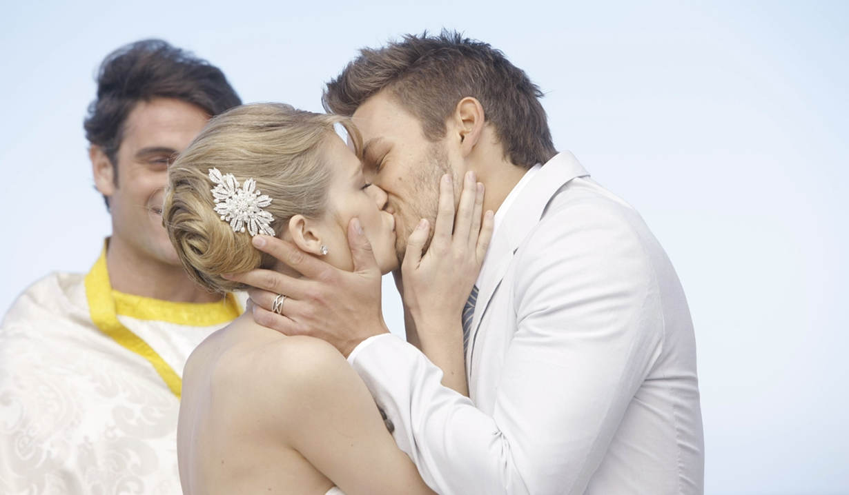 Hope, Liam kiss Italy wedding 2012 Bold and Beautiful