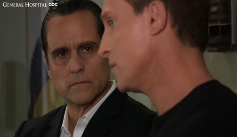 Jason and Sonny talk Mike's options at Turning Woods General Hospital