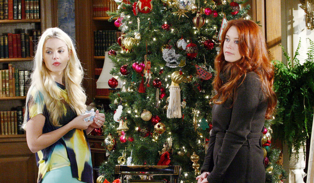 Jessica and Natalie at Christmas OLTL