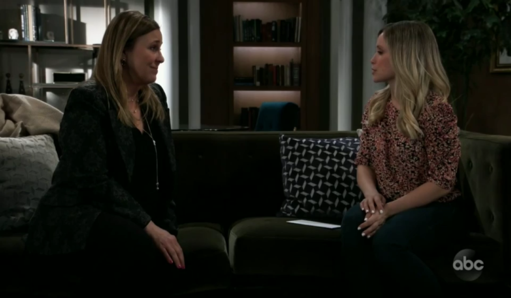 Lulu and Laura discuss Nikolas and Ava at home General Hospital