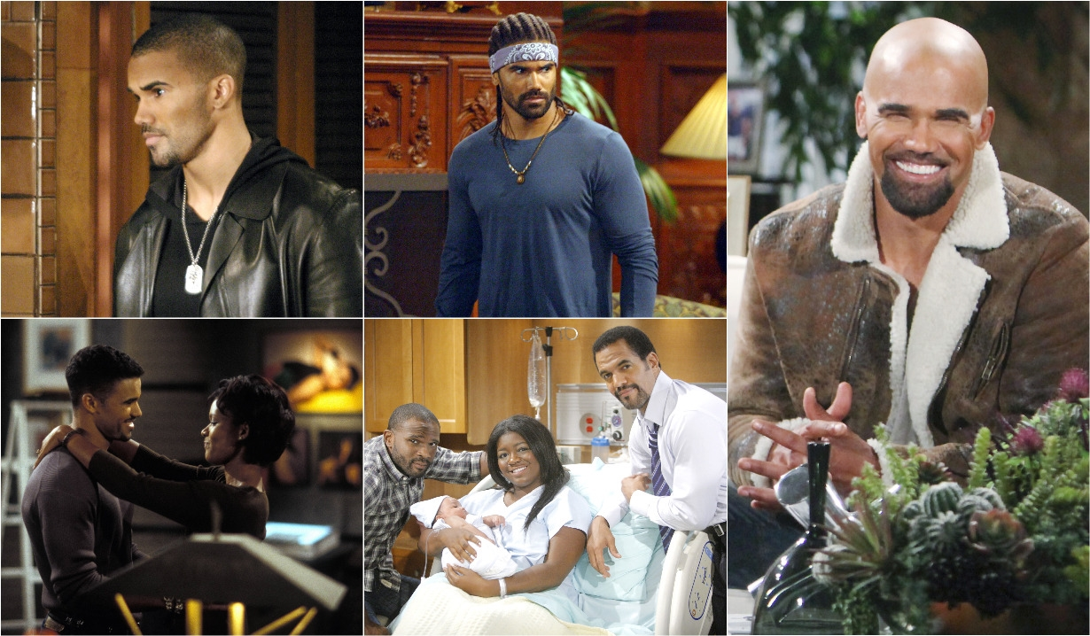 Malcolm, Olivia, Neil, Sofia, Moses collage Y&R