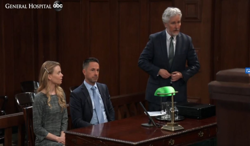 Martin calls Nelle to stand in court General Hospital