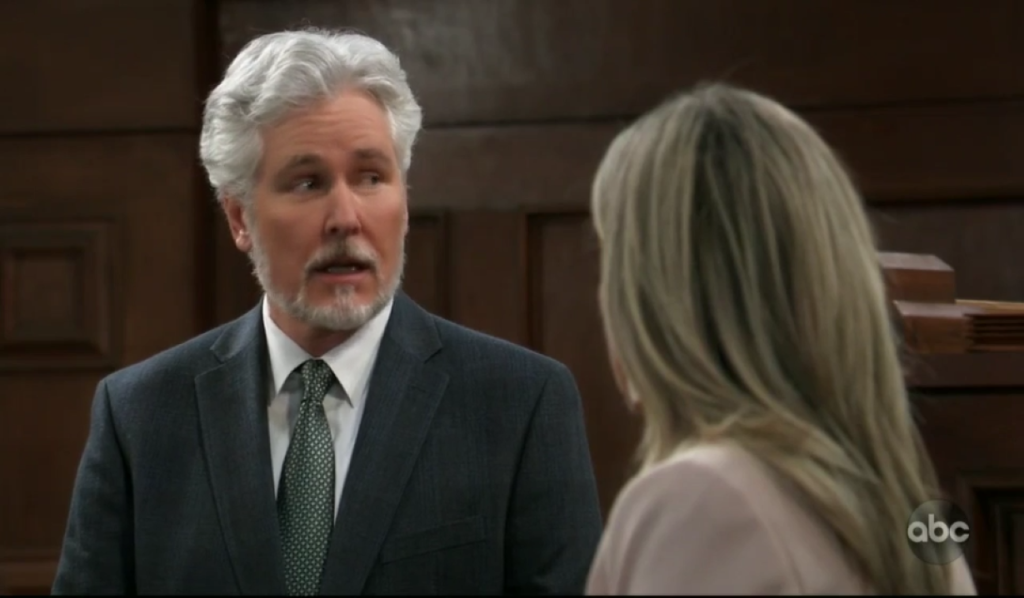 Martin questions Carly in court General Hospital