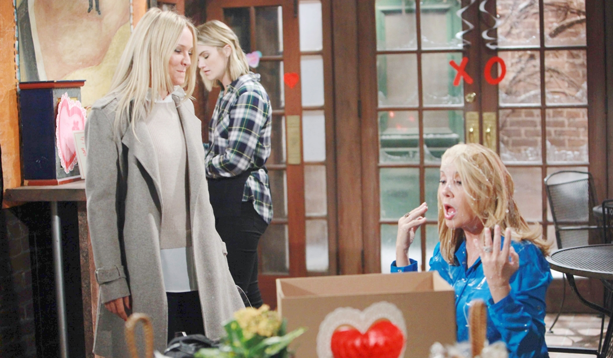 Nikki, Sharon dump milk head Y&R