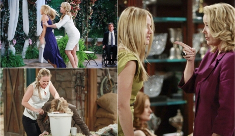 Nikki, Sharon rivalry collage Y&R
