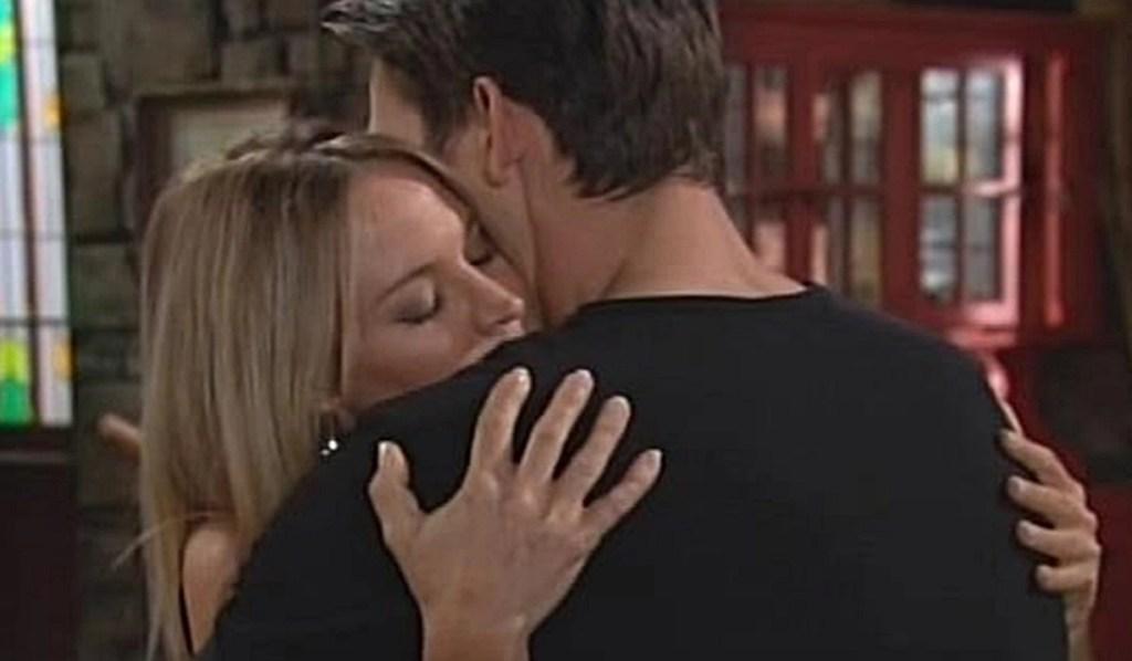 Sharon embraces Adam Y&R
