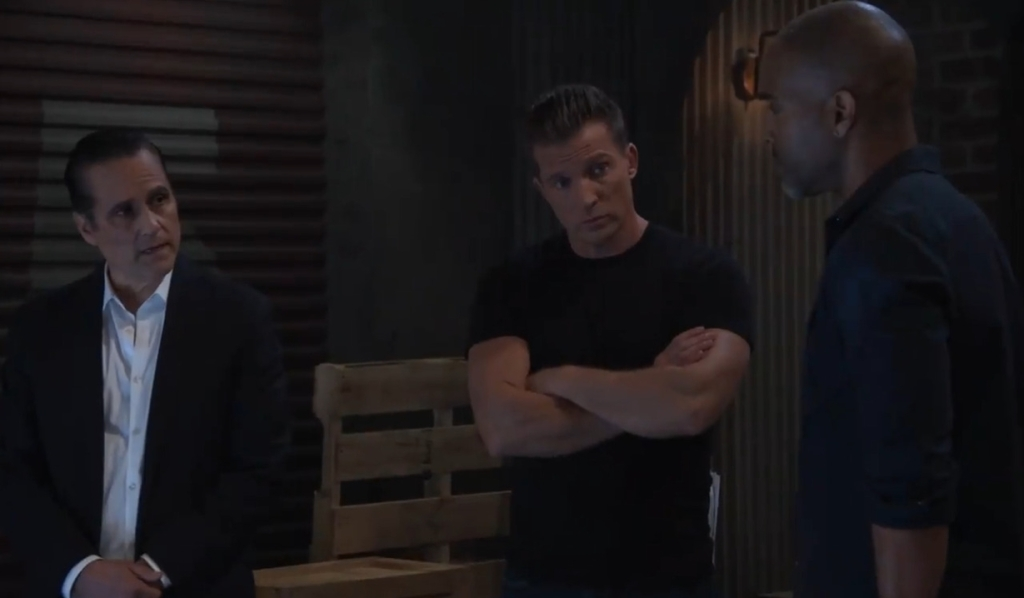 Jason, Sonny and Curtis discuss their plan on the docks General Hospital