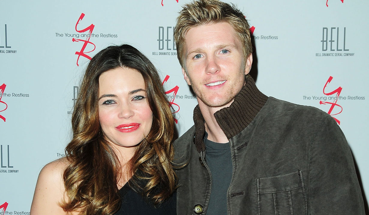 Thad Luckinbill and Amelia Heinle of Y&R