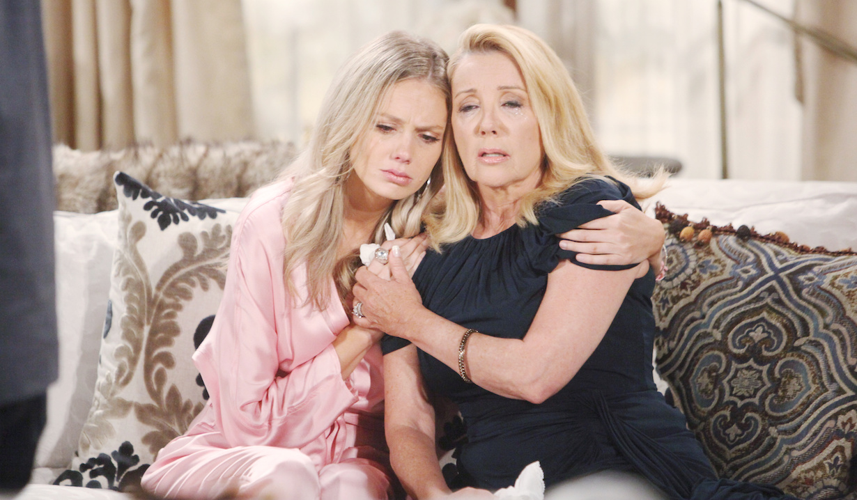 who killed young restless delia abby hugs nikki