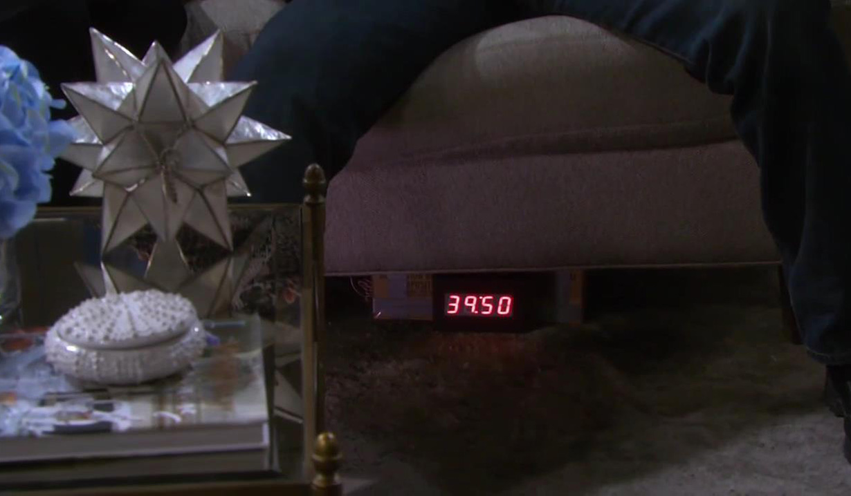 Bomb under John and Marlena's couch