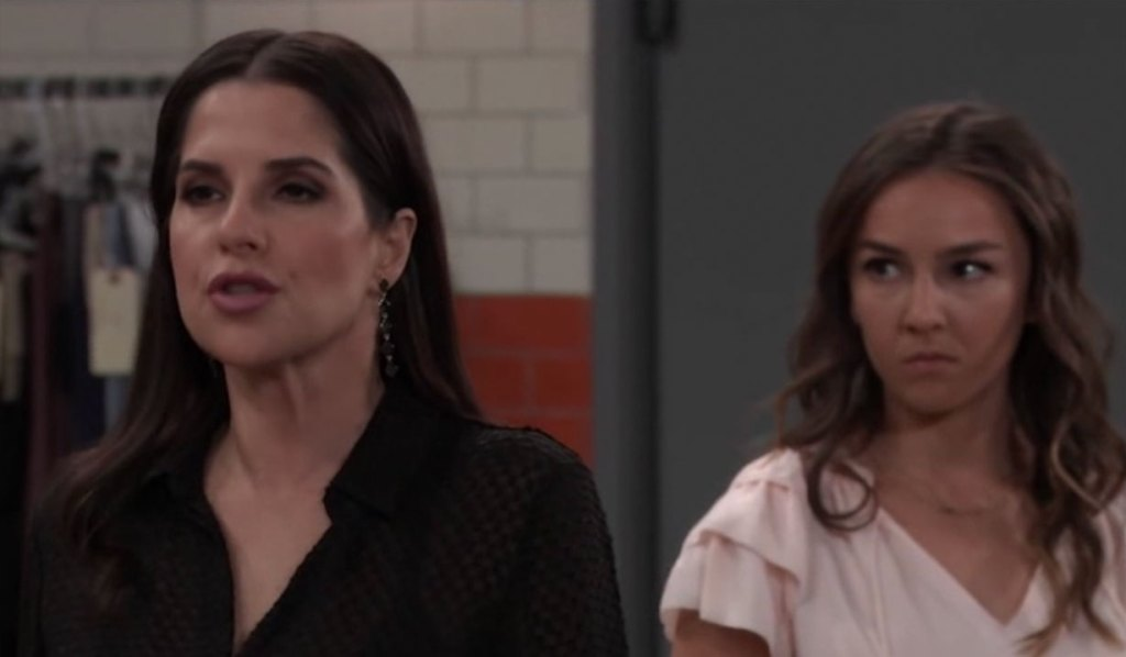 Sam lashes out at Molly on General Hospital