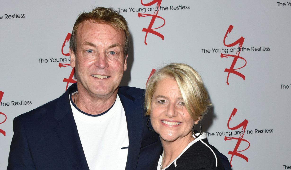 Doug Davidson and Cindy Fisher on Y&R