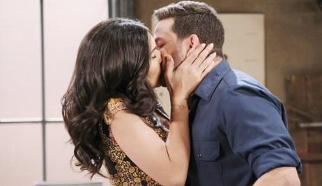 Gabi kisses Jake Days of our Lives