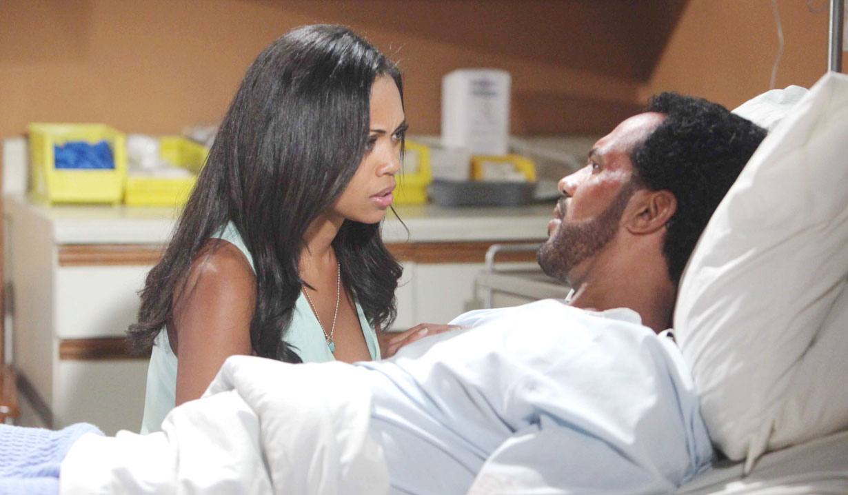 hilary at neil's hospital bedside Y&R