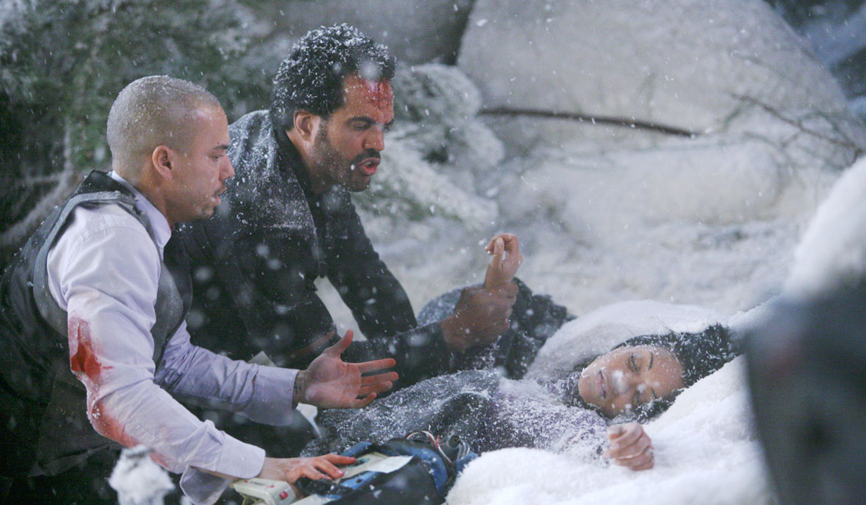 hilary's plane crash with neil and devon Y&R