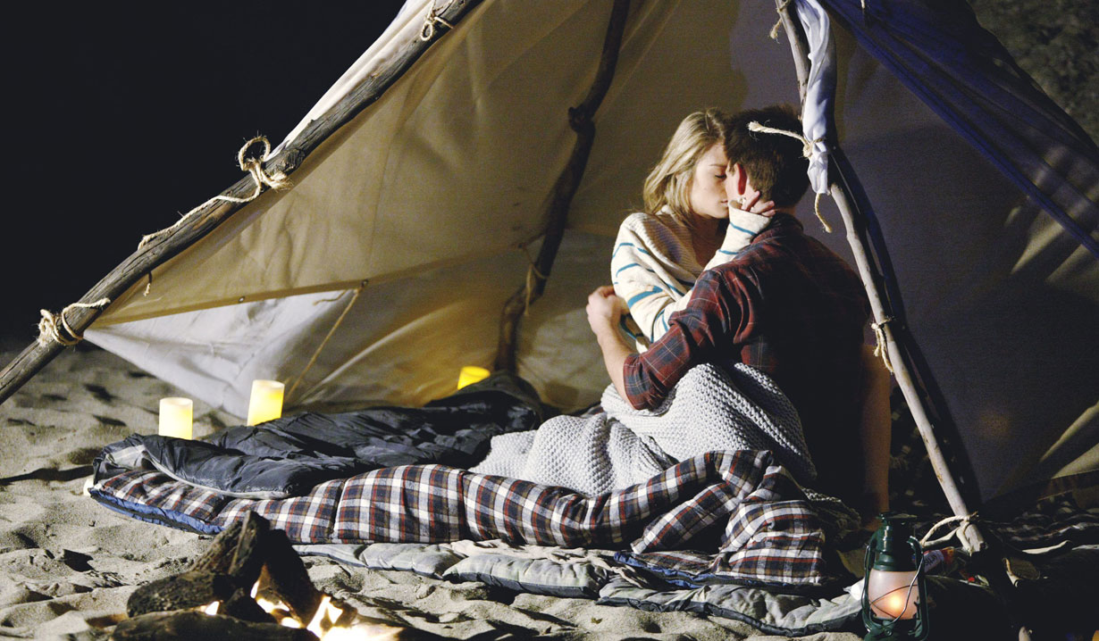 hope and wyatt camping in tent bold and beautiful